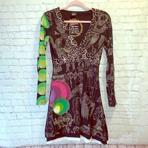 DESIGUAL Long Sleeve Carole Tunic Dress